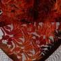 Small silk velvet scarf triangle.2